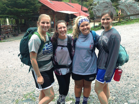 FHU students hiking at Mount Olympus