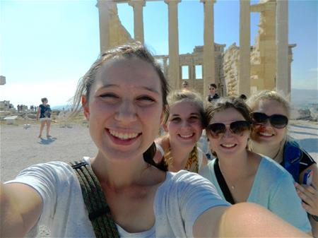 FHU students at the Parthenon in Athens