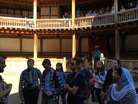 FHU students at Shakeapere's Globe