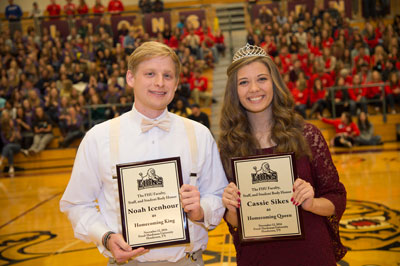 Noah Icenhour and Cassie Sikes; 2016 Homecoming King and Queen