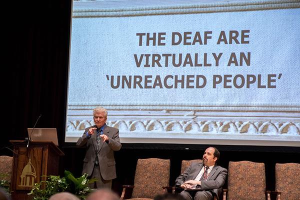 Frank Rushing, minister for the deaf at Nashville