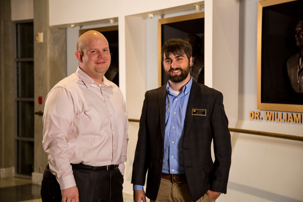 Left: Leslie Lewis, Director of NSCC Dickson campus; Right: Ben Selbe, FHU / Dickson Admissions