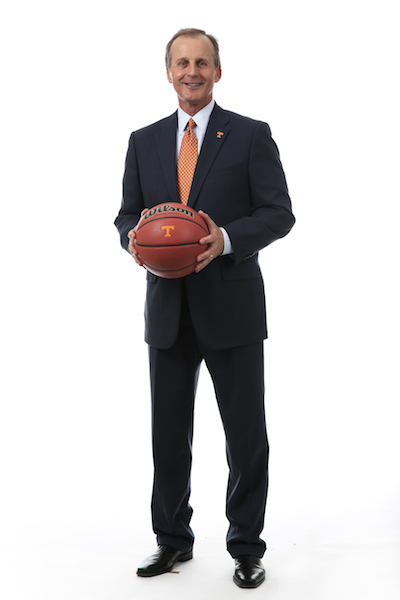 Rick Barnes, head coach of the University of Tennessee men's basketball team