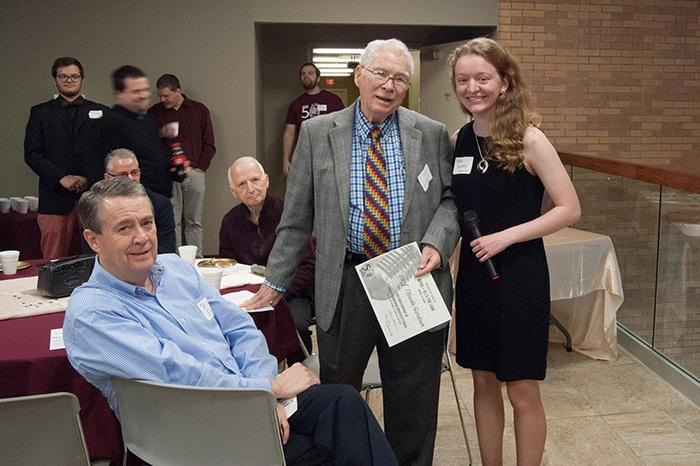 Alyssa Blakeney with Former President Gardner and Bro. Billy Smith