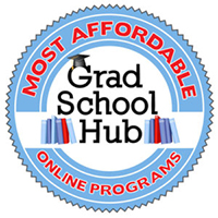 Grad School Hub Most Affordable Online Programs Badge