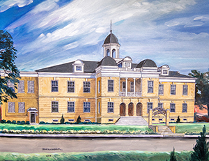 Joe McCormick, freelance painter and illustrator, produced this most recent rendering of Old Main.