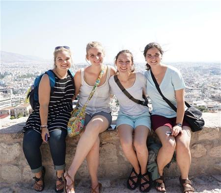 FHU students in Greece