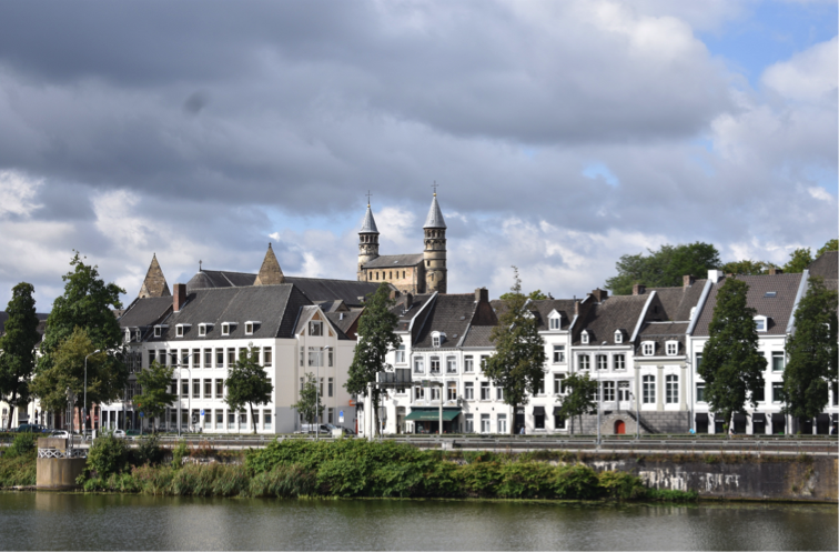 A row of buildings in Maastricht