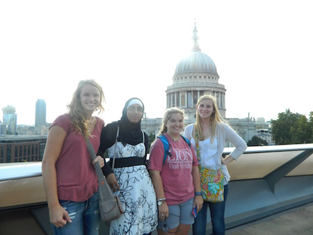 FHU students at St. Paul's Cathedral
