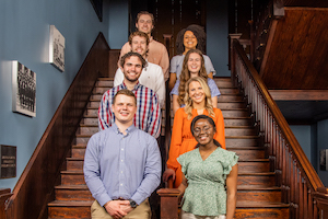 Mr. and Miss FHU Finalists (Back Row to Front Row) Connor Creasy and Hannah Young; Sam McGreevy and Emaleigh Board; Dillan Todd and Cassidy Shrader and Jessie Bates and Wisenie Jadis.