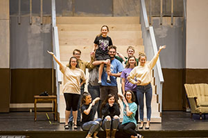 "The cast of ""Annie"" rehearses for the opening of the Broadway favorite Nov. 8 in FHU"