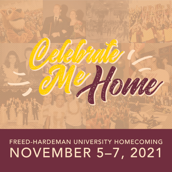 """Following the necessary cancelation of 2020's in-person gathering, organizers have chosen the theme """"Celebrate Me Home"""" to welcome the FHU family back to campus for the annual event."""