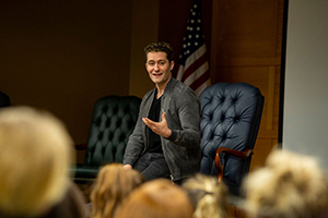 Broadway and television actor Matthew Morrison of Glee fame talks with Makin