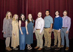 Nominees for Miss FHU are: Emma Butt, Elisabeth Hibbett, Isabel Harris and Bailie White. Mr. FHU nominees are: Jacob Dowdy, Sam Boyd, Matthew Johnson and Marshall Dearing.