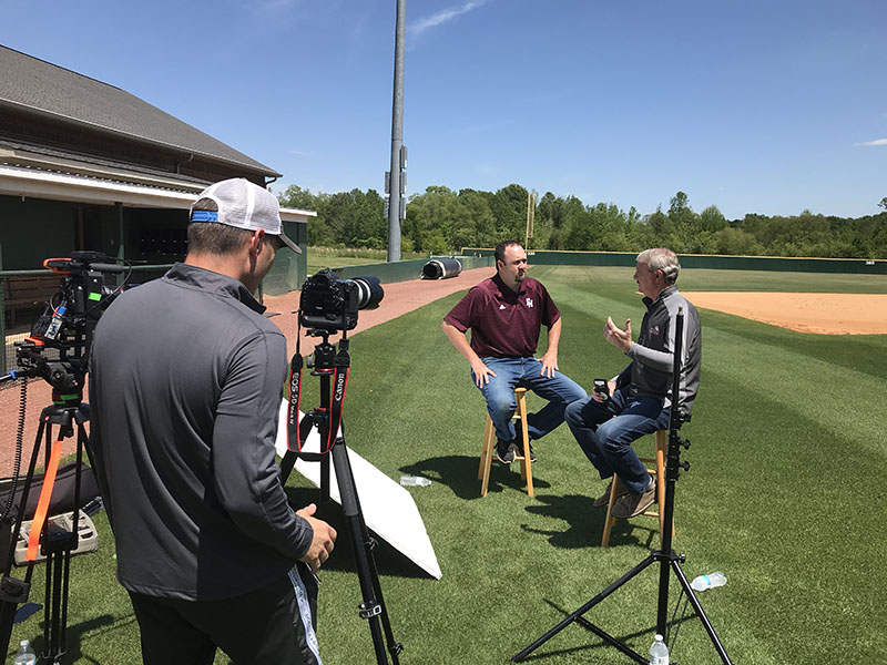 Filming Coach Estes for FHU's 150th My Story Documentary
