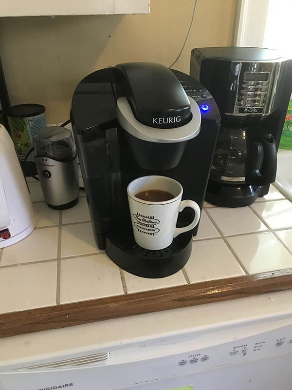 First cup of coffee